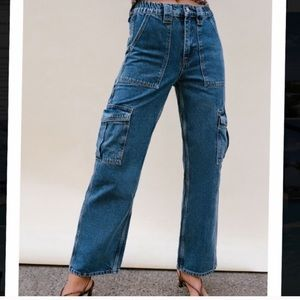 BDG Urban Outfitters elastic waist cargo jeans